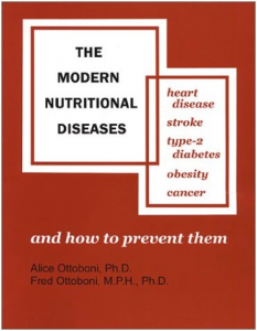 The cover or Modern Nutritional Diseases by Frank and Alice Ottoboni