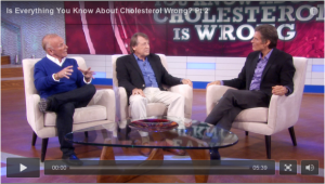Screen shot of Part 2 of Dr. Oz's episode on cholesterol.