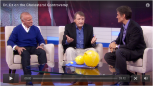 Screen shot of Part 3 of Dr. Oz's episode on cholesterol.
